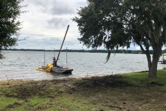 Sanford Mechanical Weed Removal with Weedoo Boat. After